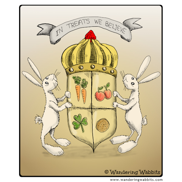 Wandering wabbits' coat of arms
