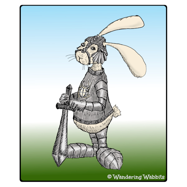 Wandering Wabbit in shining armour to rescue you