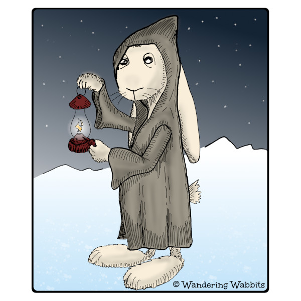 When you're wandering in the snowy mountains, hermit Wabbit will show you the way.