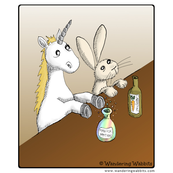 Unicorn and Wabbit walks into a bar